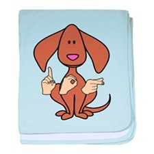 Funny Sign language baby blanket