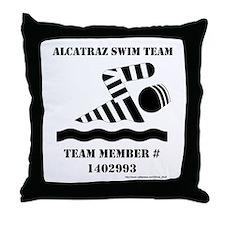 Alcatraz Swim Team Throw Pillow