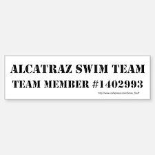 Alcatraz Swim Team Bumper Bumper Sticker