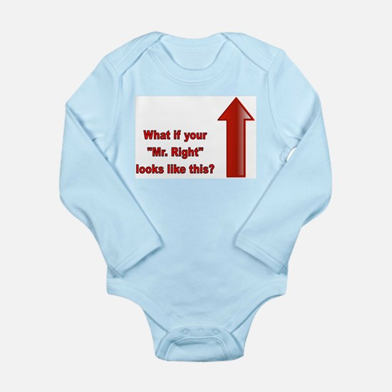Cute Mr right Long Sleeve Infant Bodysuit