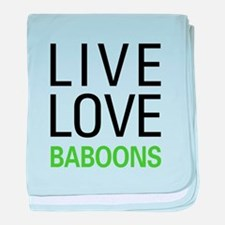 Live Love Baboons baby blanket