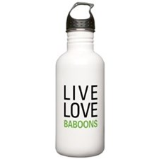 Live Love Baboons Water Bottle