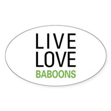 Live Love Baboons Decal