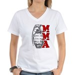 MMA Grenade Women's V-Neck T-Shirt