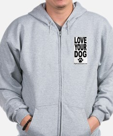 Unique Canine cancer Zip Hoodie
