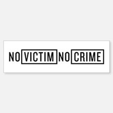 No Victim No Crime Bumper Bumper Sticker