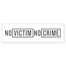 No Victim No Crime Car Sticker