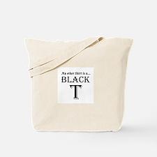 Black T Tote Bag