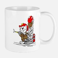 Firefighter Cat Mug