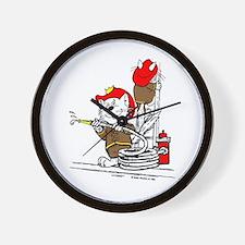 Firefighter Cat Wall Clock