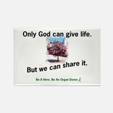 Sharing Life Rectangle Magnet