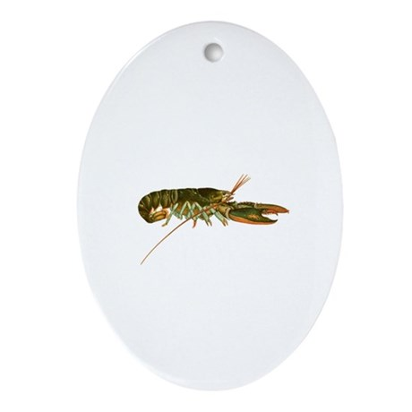 American Lobster Artwork Ornament (Oval)