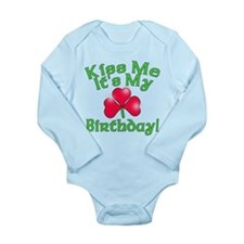 Kiss Me It's My Birthday St. Pat's Long Sleeve Inf