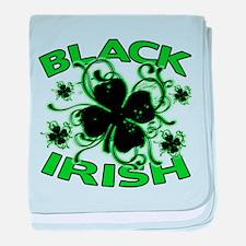Black Shamrocks Black Irish baby blanket