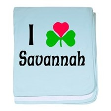 I Love Savannah baby blanket