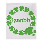 Leanbh Irish Word for Baby Throw Blanket