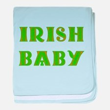 IRISH BABY (Celtic font) baby blanket
