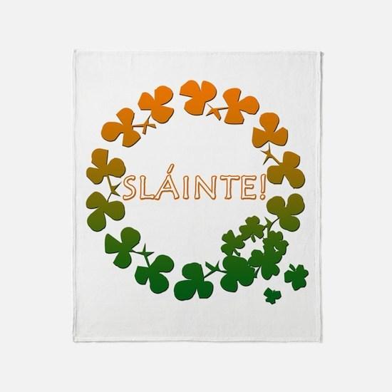 Slainte Irish Toast Throw Blanket