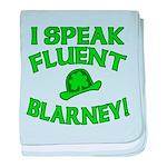 I Speak Fluent Blarney baby blanket