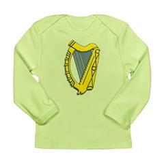 Celtic, Gaelic, Irish Harp Long Sleeve Infant T-Sh