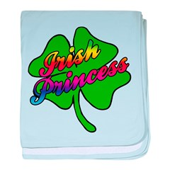 Rainbow Irish Princess baby blanket