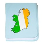 Tricolor Map of Ireland baby blanket