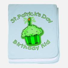 St Patricks Day Birthday Kid baby blanket