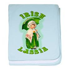 Irish Lassie In Green baby blanket