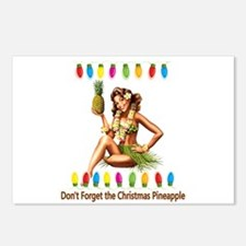Christmas Pineapple Postcards (Package of 8)