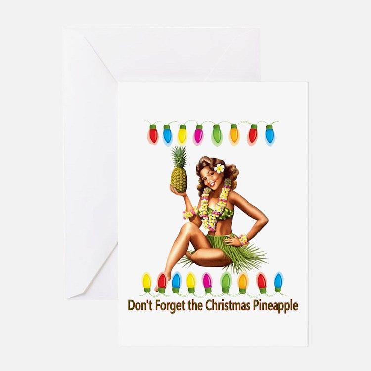 Christmas Pineapple Greeting Card