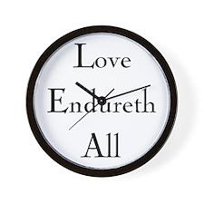 Love Endureth All Wall Clock