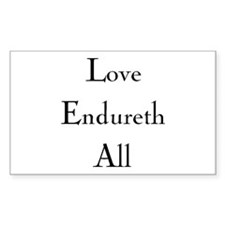 Love Endureth All Rectangle Decal