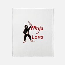 Ninja of Love Throw Blanket