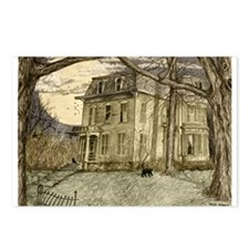 Unique Haunted mansion Postcards (Package of 8)