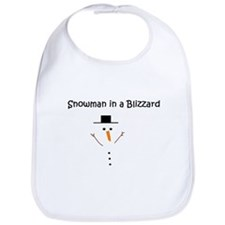 Snowman in a Blizzard Bib