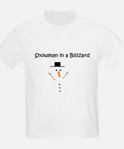 Snowman in a Blizzard T-Shirt