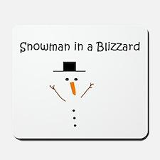 Snowman in a Blizzard Mousepad