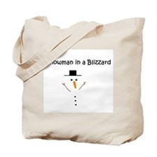 Snowman in a Blizzard Tote Bag