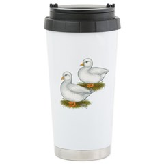White Call Ducks Travel Mug