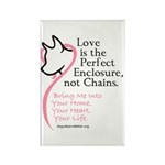 Enclose me with Love Rectangle Magnet (100 pack)