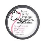 Enclose me with Love Wall Clock