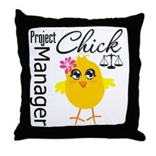 Project Manager Chick Throw Pillow