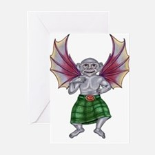 Monkey with Bat Wings Greeting Cards (Pk of 10