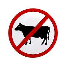 "Anti Bull 3.5"" Button (100 pack)"