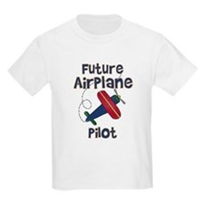 Future Airplane Pilot Kids T-Shirt