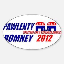 ROMNEY PAWLENTY 2012 FOR PRESIDENT BUMPER STICKER