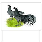 Blue Sumatra Chickens Yard Sign