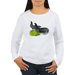 Blue Sumatra Chickens Women's Long Sleeve T-Shirt