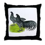 Blue Sumatra Chickens Throw Pillow