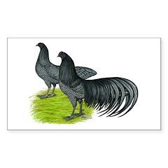 Blue Sumatra Chickens Decal